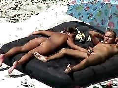 Spy cam made the videos of a fucking beach couple